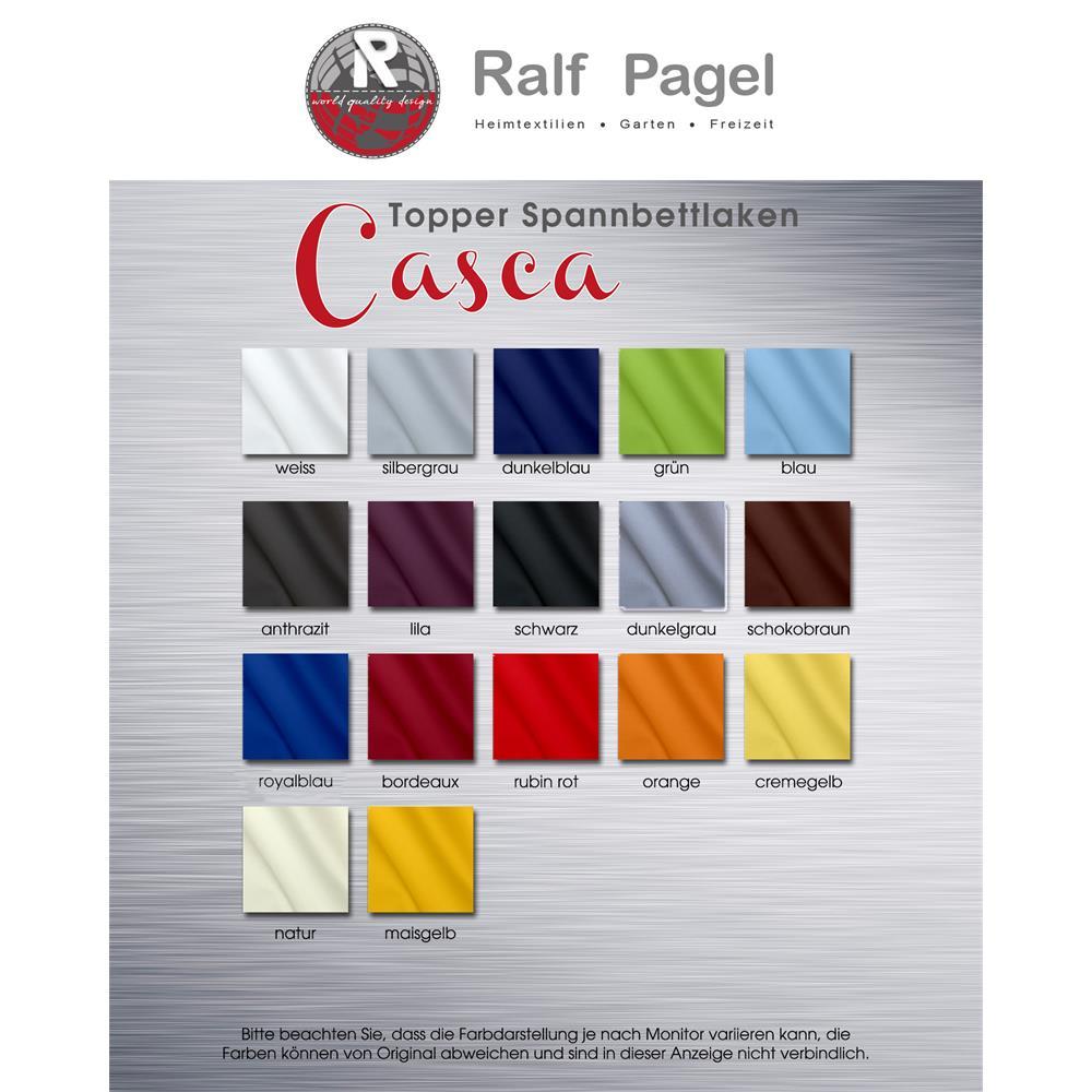 topper spannbettlaken spannbetttuch jersey baumwolle topaktuelle farben casca ebay. Black Bedroom Furniture Sets. Home Design Ideas