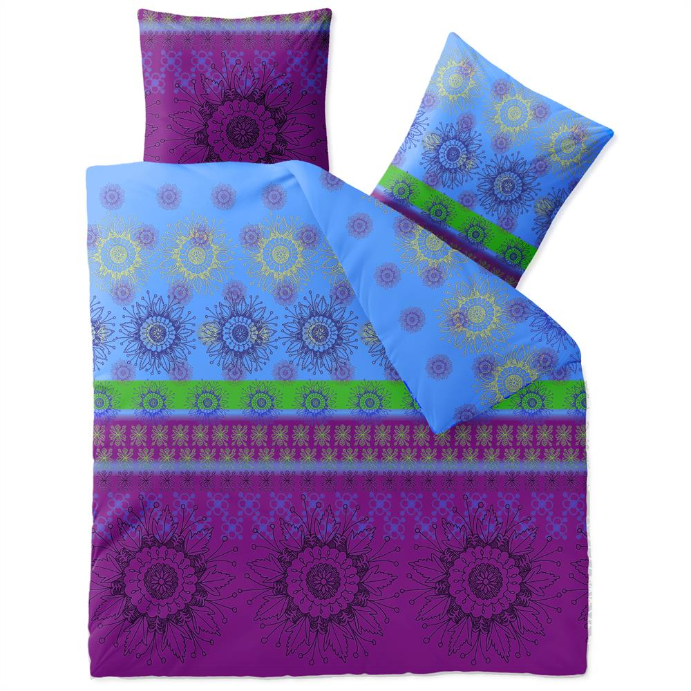 bettw sche garnitur 200x200 doppelbett baumwolle rei verschluss 3 teilig fashion ebay. Black Bedroom Furniture Sets. Home Design Ideas