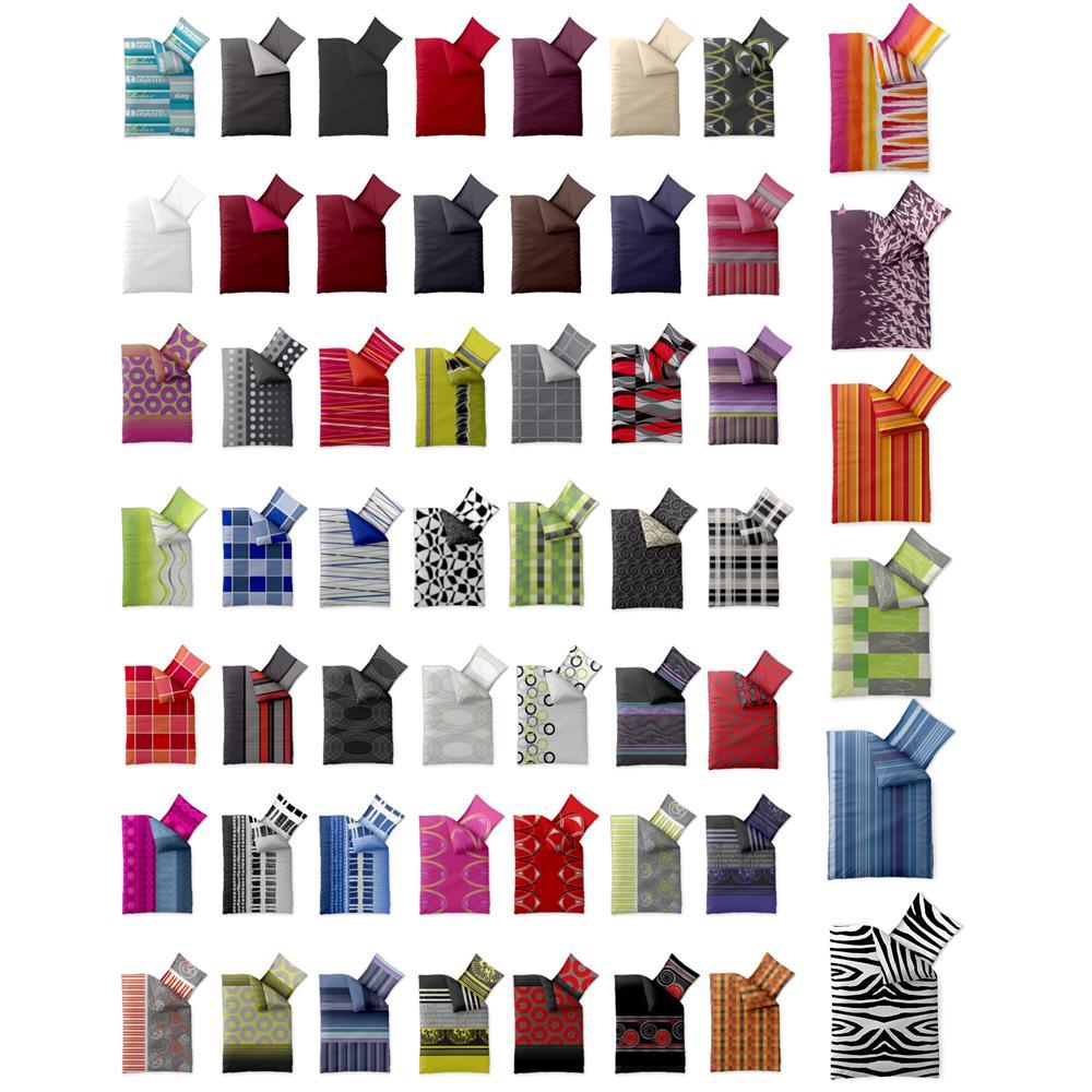 bettw sche garnitur microfaser 4 tlg set 135x200 155x220 rei verschluss harmony ebay. Black Bedroom Furniture Sets. Home Design Ideas