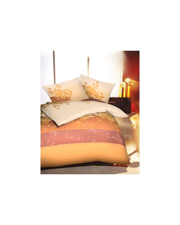 bettw sche garnitur microfaser flanell 155x220 cm rei verschluss pfirsich terra ebay. Black Bedroom Furniture Sets. Home Design Ideas