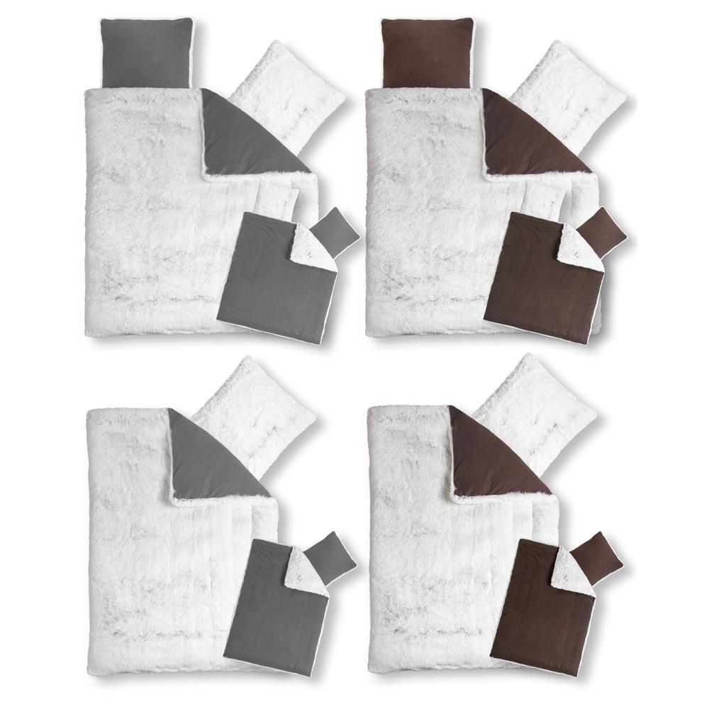 bettw sche garnitur longhair flokati fell optik. Black Bedroom Furniture Sets. Home Design Ideas