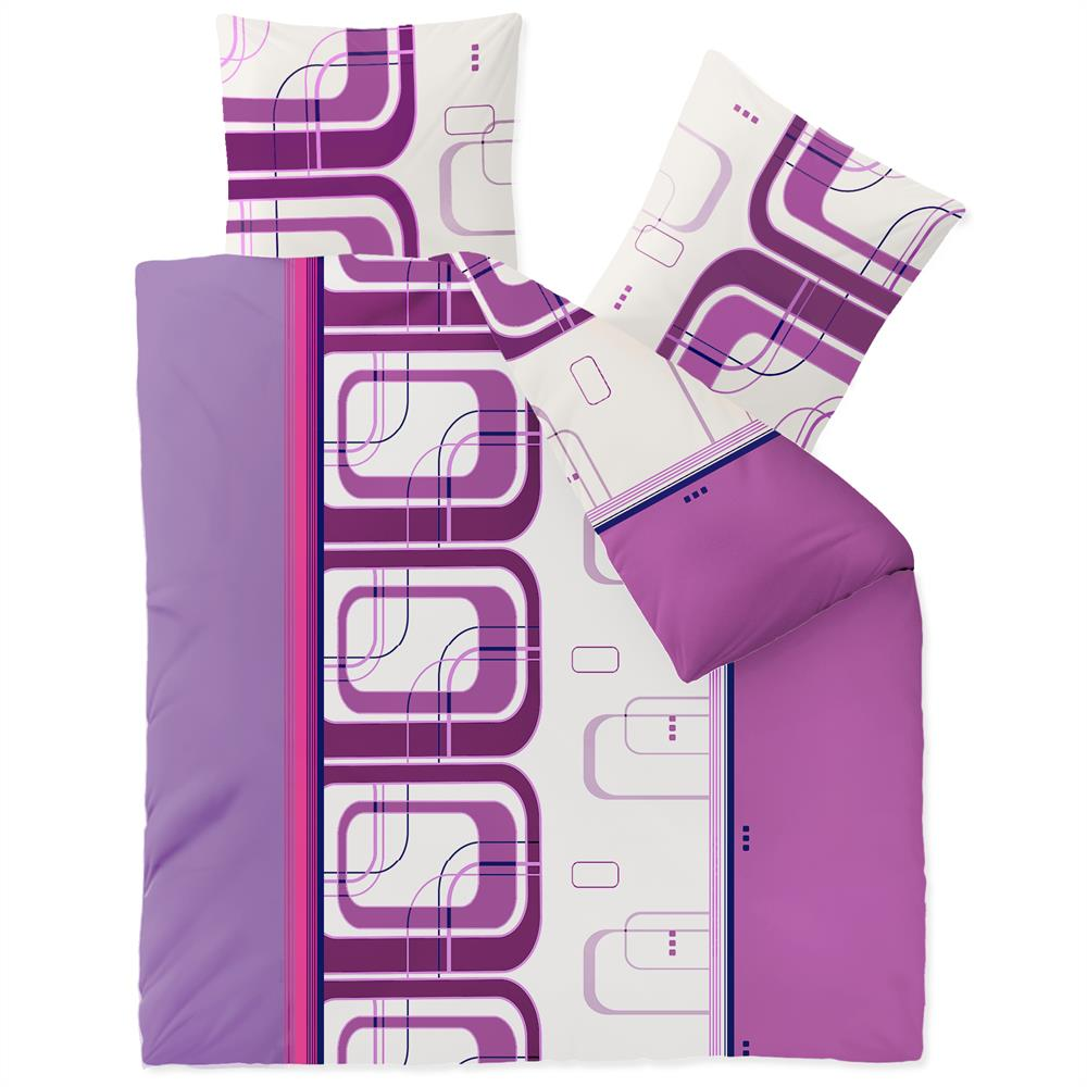 winter bettw sche garnitur 200x220 microfaser fleece reissverschluss style ebay. Black Bedroom Furniture Sets. Home Design Ideas
