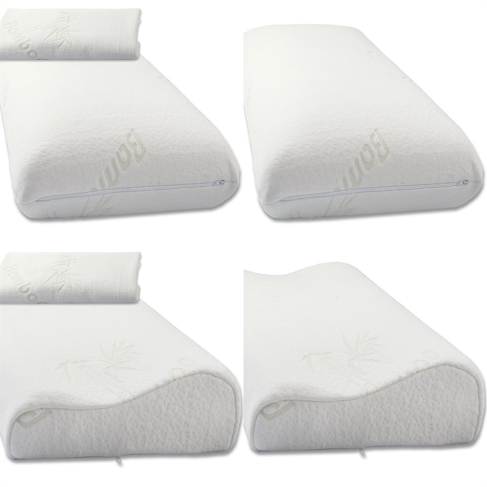 visco schaum kissen nackenst tzkissen orthop disch memory foam bamboo torrent ebay. Black Bedroom Furniture Sets. Home Design Ideas
