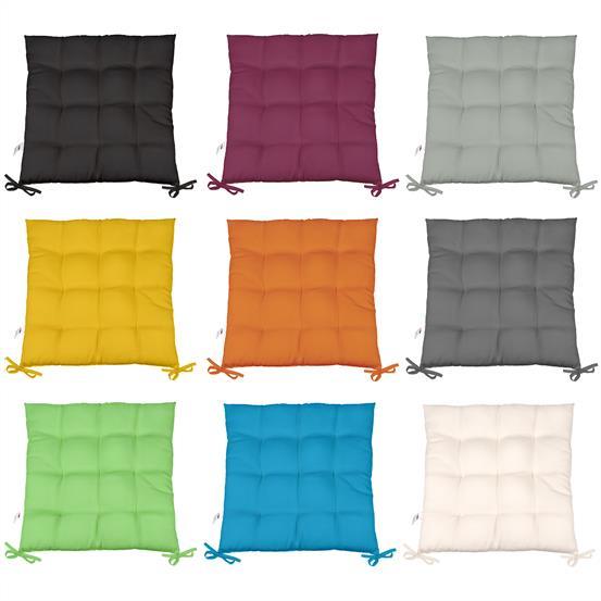 sitzkissen sitzauflage stuhlkissen dekokissen garten terrasse 40x40 ko tex yoyo ebay. Black Bedroom Furniture Sets. Home Design Ideas