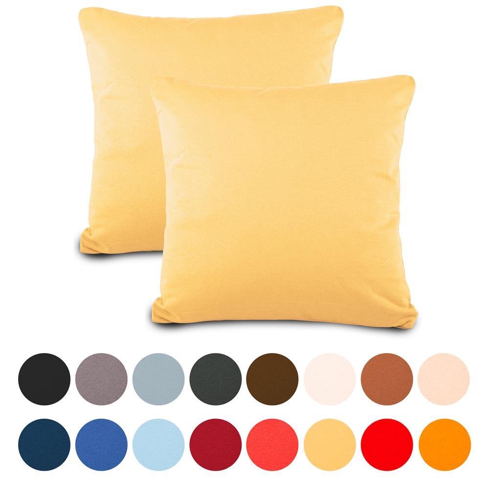 classic line doppelpack 80 x 80 cm kissenbez ge kissenh lle kissen baumwolle jersey cremgelb. Black Bedroom Furniture Sets. Home Design Ideas