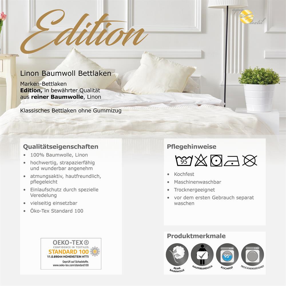 bettlaken haustuch baumwolle linon 150x250 edition wei heimtextilien. Black Bedroom Furniture Sets. Home Design Ideas