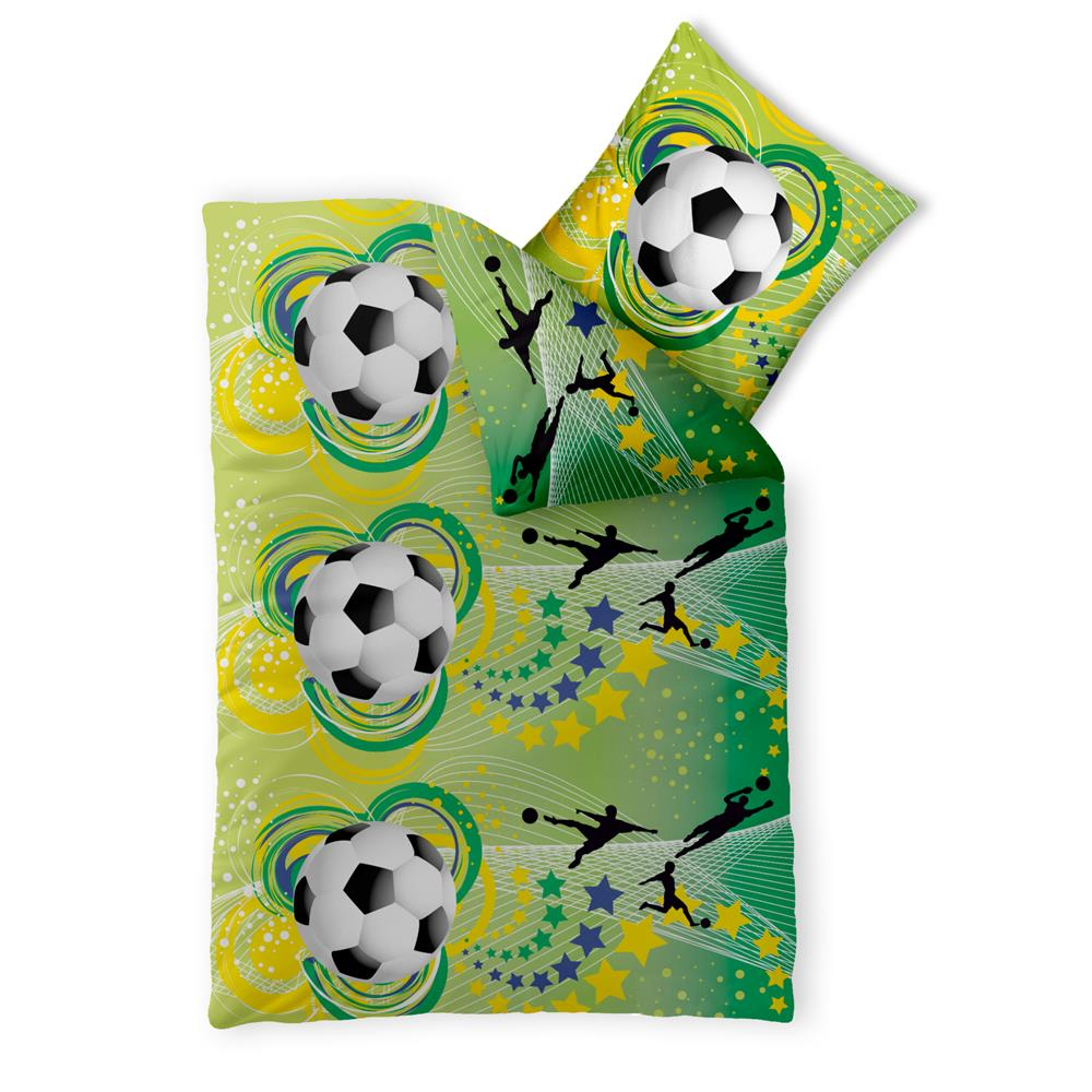 Bettwasche Garnitur Baumwolle Fashion Fun 155x220 Fussball Www Home