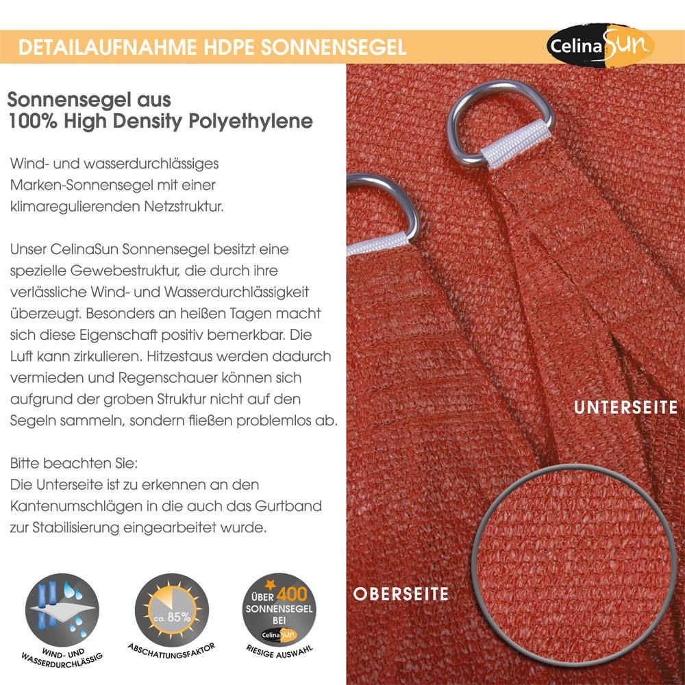 Indexbild 23 - Sonnenschutz Segel HDPE Vierecke Sonnendach Segeltuch Balkon UV-Schutz CelinaSun