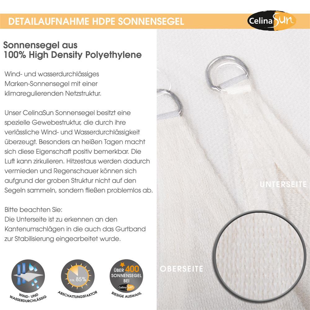 Indexbild 26 - Sonnenschutz Segel HDPE Vierecke Sonnendach Segeltuch Balkon UV-Schutz CelinaSun