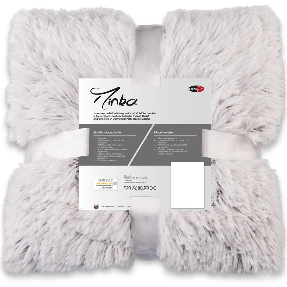 Bettwäsche Longhair Flokati Minka 135x200 Creme Weiß Braun Www