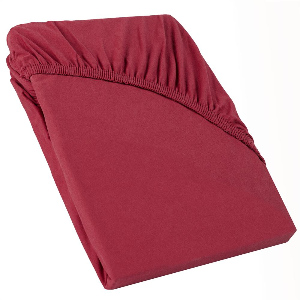 perla spannbettlaken topper baumwolle bordeaux rot 120x200 130x200. Black Bedroom Furniture Sets. Home Design Ideas