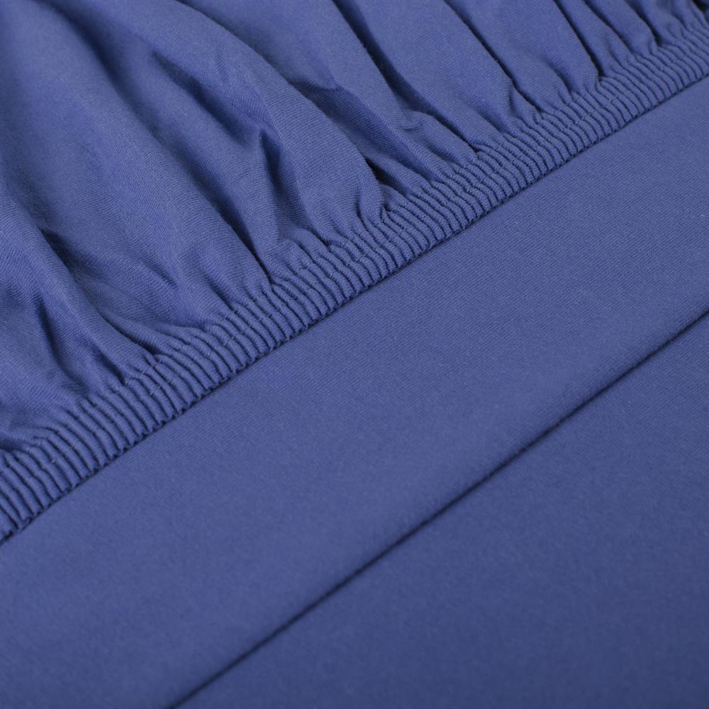 perla spannbettlaken topper baumwolle royal blau 180x200 200x200. Black Bedroom Furniture Sets. Home Design Ideas