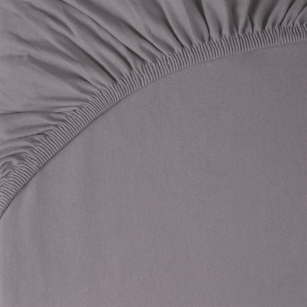 spannbettlaken baumwolle jersey doppelpack 90x200 100x220 pur dunkel grau. Black Bedroom Furniture Sets. Home Design Ideas