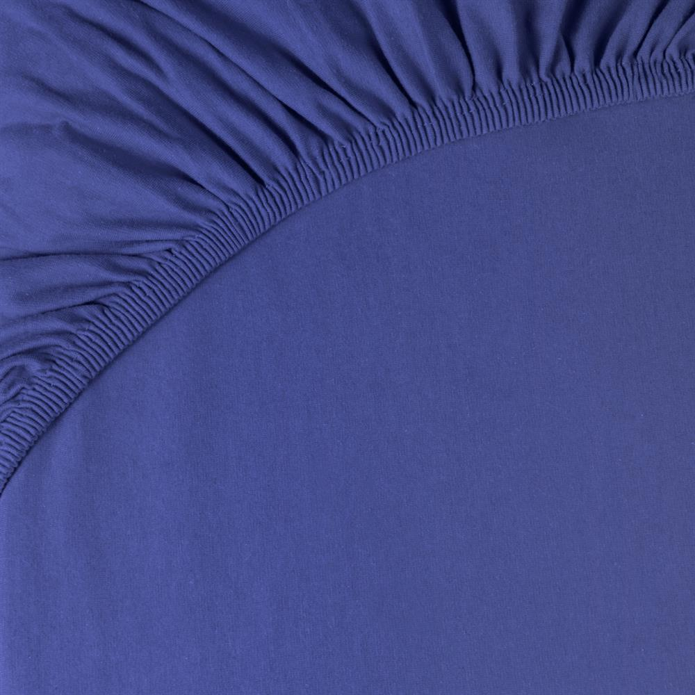 spannbettlaken baumwolle jersey 140x200 160x220 pur royal blau. Black Bedroom Furniture Sets. Home Design Ideas