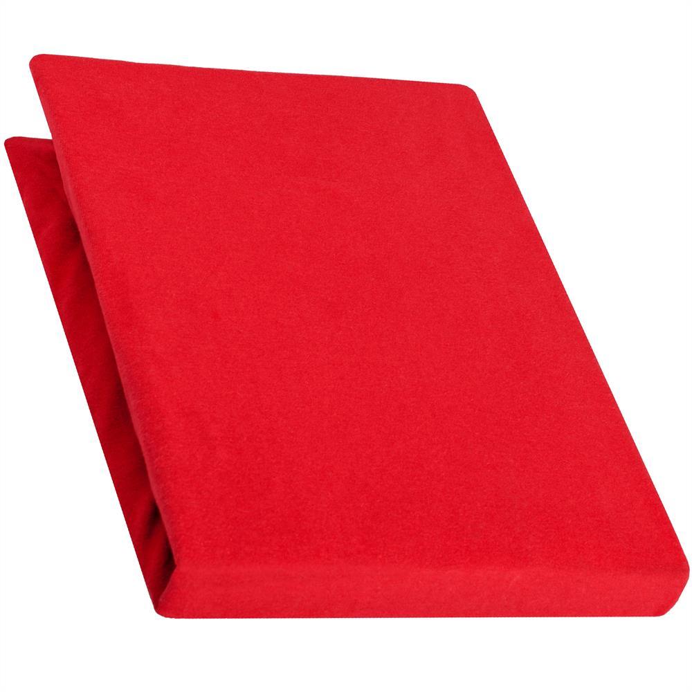spannbettlaken baumwolle jersey 140x200 160x220 pur rubin rot. Black Bedroom Furniture Sets. Home Design Ideas