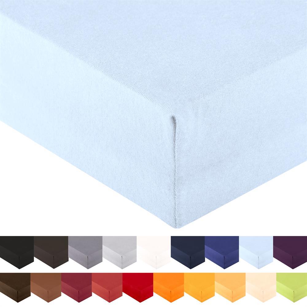 spannbettlaken wasserbett jersey royal xl 200x220 220x240 cm aqua blau. Black Bedroom Furniture Sets. Home Design Ideas