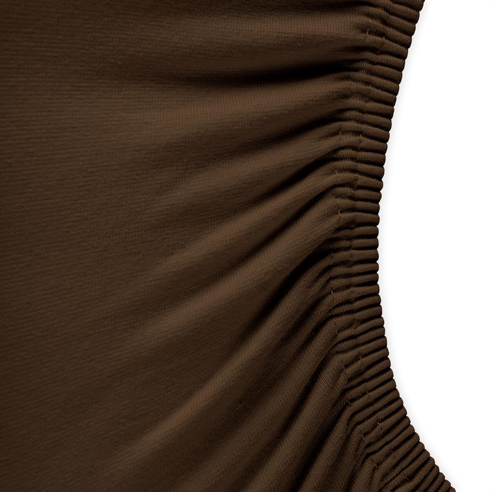 spannbettlaken wasserbett jersey royal 180x200 200x220 cm dunkel braun. Black Bedroom Furniture Sets. Home Design Ideas