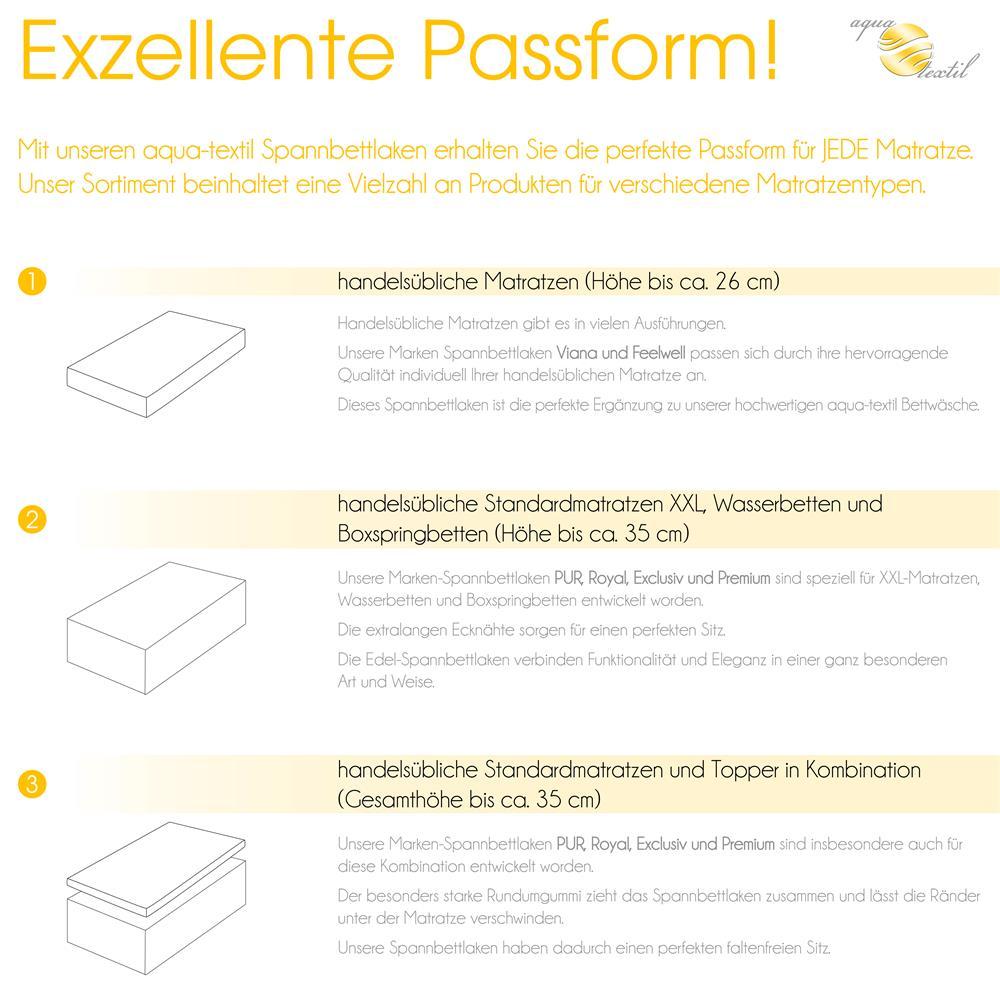 Spannbettlaken Baumwolle Premium 180x200 200x220 Creme Gelb Www