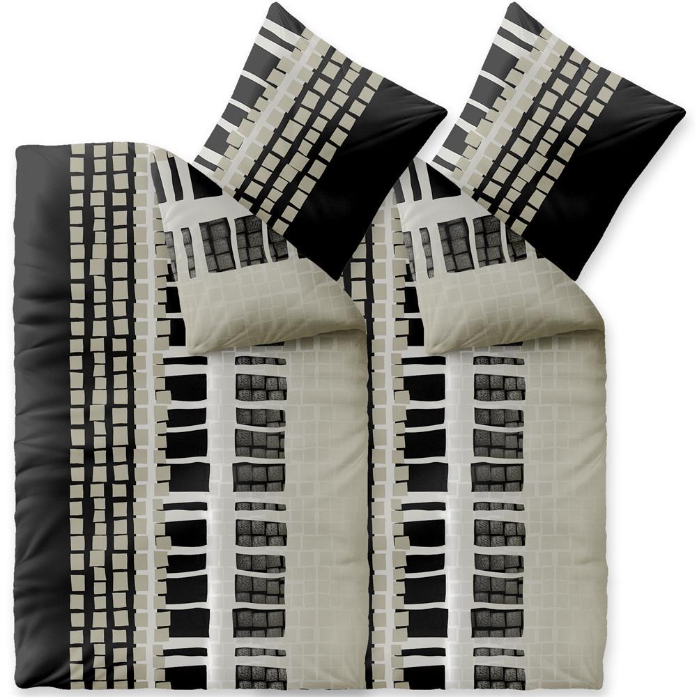 Bettwäsche Microfaser Fleece 4 Teilig 135x200 Style Daniela Www