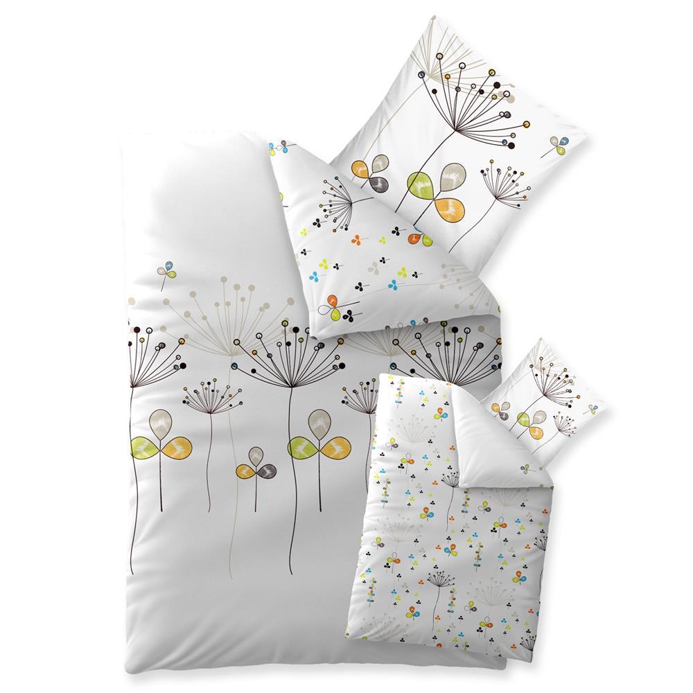 bettw sche garnitur baumwolle trend 135x200 bia weiss beige braun. Black Bedroom Furniture Sets. Home Design Ideas