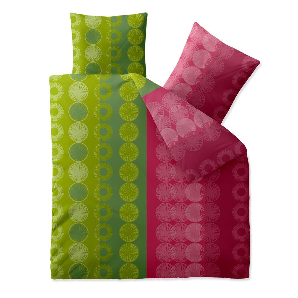 bettw sche garnitur baumwolle trend 200x200 dafina gr n pink. Black Bedroom Furniture Sets. Home Design Ideas