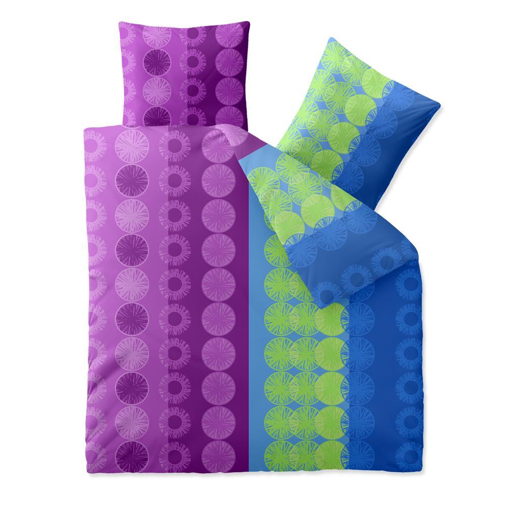 bettw sche garnitur baumwolle trend 200x200 dina blau flieder. Black Bedroom Furniture Sets. Home Design Ideas