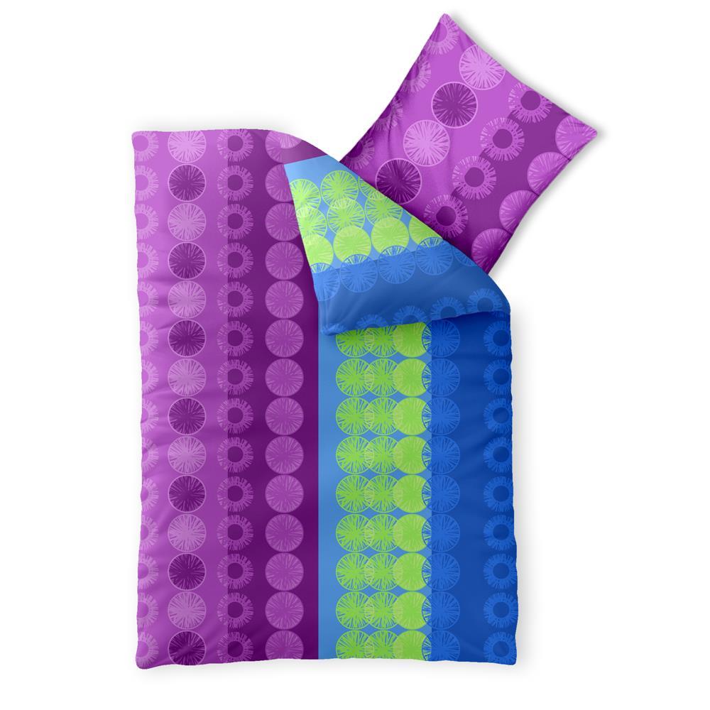 Bettwasche Garnitur Baumwolle Trend 135x200 Dina Blau Flieder Www