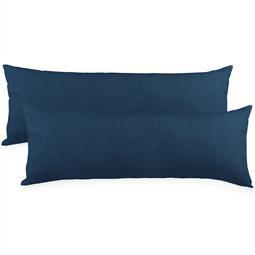 Kissenbezug Baumwolle Jersey Active Doppelpack 40x120 dunkelblau
