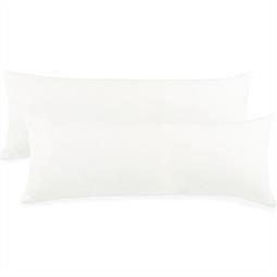Kissenbezug Baumwolle Jersey Active Doppelpack 40x120 schneeweiß