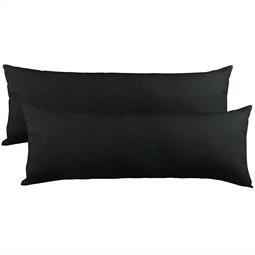 Kissenbezug Baumwolle Jersey Active Doppelpack 40x120 schwarz