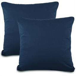 Kissenbezug Baumwolle Jersey Active Doppelpack 80x80 dunkelblau