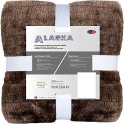 CelinaTex Kuscheldecke Felloptik Polarfleece Alaska 150x200 braun