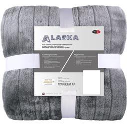 CelinaTex Kuscheldecke Felloptik Polarfleece Alaska XL 200x240 grau
