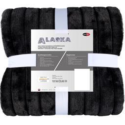 CelinaTex Kuscheldecke Felloptik Polarfleece Alaska 150x200 schwarz