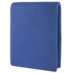 Spannbettlaken Baumwolle Elastan Aqua 90x200-100x220 royalblau