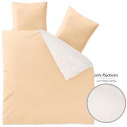 aqua-textil Bettwäsche Garnitur Lammfelloptik Reißverschluss Arctic 200x200 beige