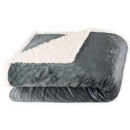 Kuscheldecke Sherpa Two in One Optik Arctic 150x200 grau