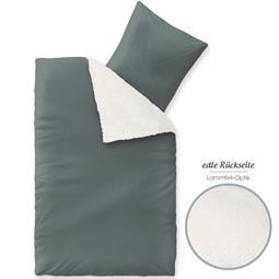 aqua-textil Bettwäsche Garnitur Lammfelloptik Reißverschluss Arctic 135x200 grau