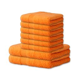 Bari Handtuch Baumwolle Set 6x 50x100 + 2x 70x140 orange
