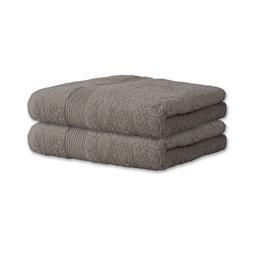 Handtuch Baumwolle Bari Doppelpack 30x50 platingrau