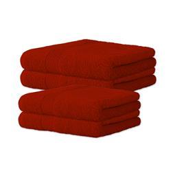 Bari Handtuch Baumwolle Set 2x 70x140 + 2x 80x200 rot