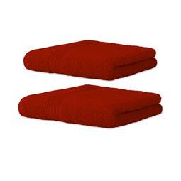 Bari Handtuch Baumwolle Set 1x 70x140 + 1x 80x200 rot