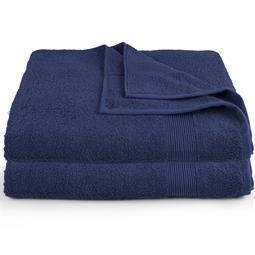 CelinaTex Saunatuch Duschtuch Strandlaken Frottee Bari Doppelpack XXL 90x220 dunkelblau