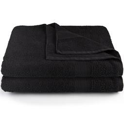 Bari Saunatuch Baumwolle Frottee Doppelpack 80x200 schwarz