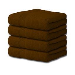 Bari Handtuch Baumwolle Set 4x 50x100 schokobraun