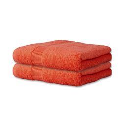 Handtuch Baumwolle Bari Doppelpack 50x100 terracotta
