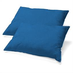 Kopfkissen Nackenkissen Bezug Microfaser Jersey Doppelpack 40x80 BeBasic royalblau