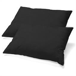 Kopfkissen Nackenkissen Bezug Microfaser Jersey Doppelpack 40x80 BeBasic schwarz