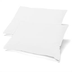 Kopfkissen Nackenkissen Bezug Microfaser Jersey Doppelpack 40x80 BeBasic weiß