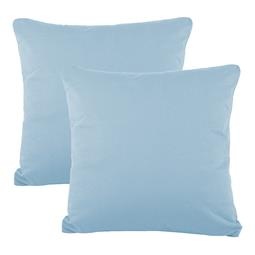 Kissenbezüge Kissenhülle Kissen Mako-Baumwolle Jersey Doppelpack 40x40 BeNature aquablau
